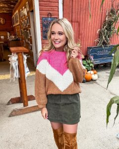 Fall Sweaters at the Pumpkin Patch